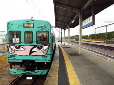伊賀上野駅205編成忍者緑