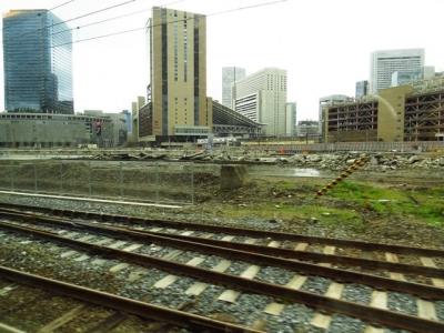 梅田貨物線から望む大阪駅