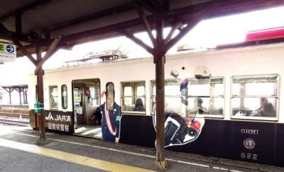 滋賀県警のパトカー電車