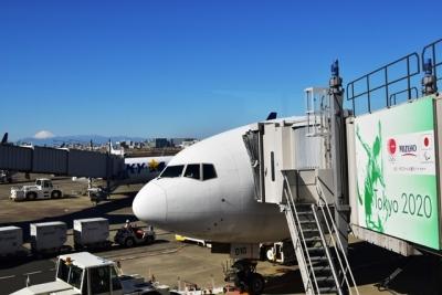 JAL511便札幌行き富士山