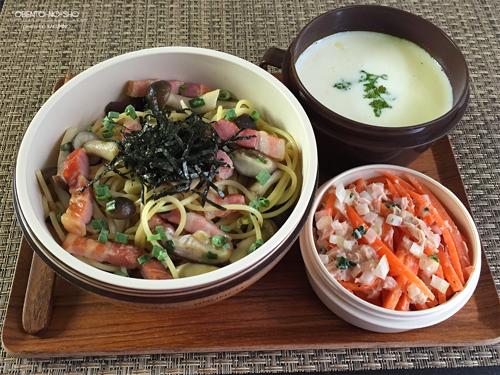 ベーコンと茸の柚子胡椒パスタ弁当01