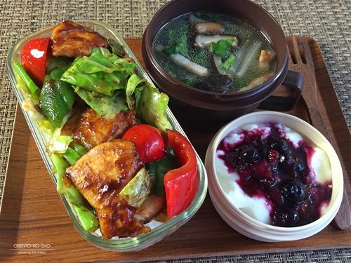 鶏胸肉の回鍋肉丼弁当01