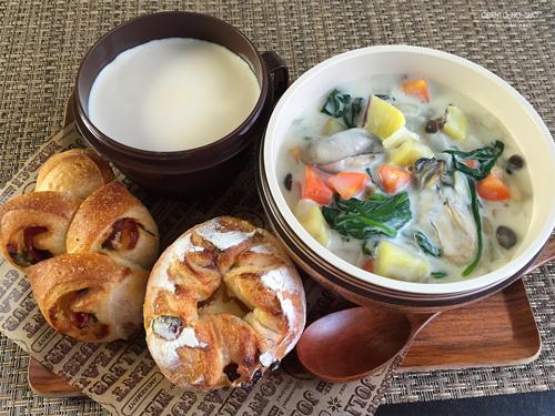 牡蠣と収穫野菜のクラムチャウダー弁当01