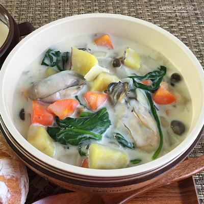 牡蠣と収穫野菜のクラムチャウダー弁当02