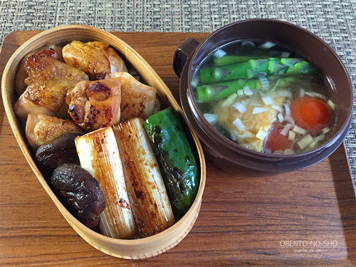 鶏ねぎま(タレ)丼弁当01