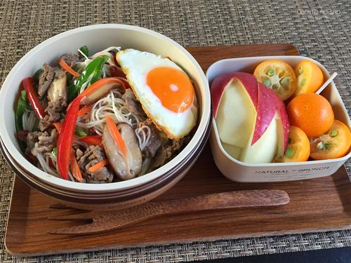 牛肉のアジアン素麺チャンプルー弁当01