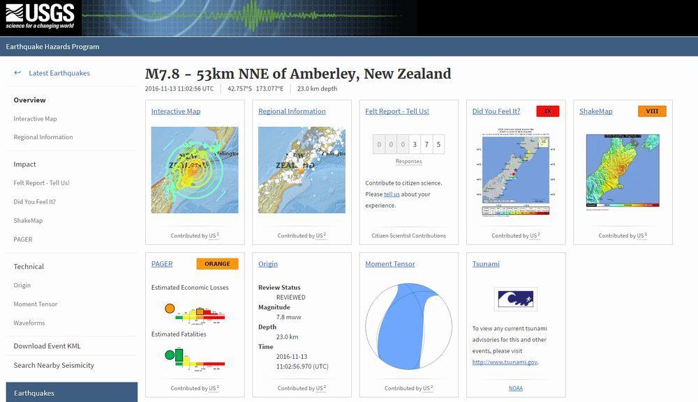 【スーパームーン】ニュージーランド・クライストチャーチ付近、内陸震源で「M7.8」の大地震が発生…現在もM5~6クラスの地震が相次ぐ