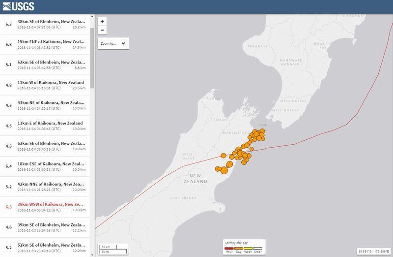 ニュージーランドで「M6.5」の地震が発生、M6クラスの地震が複数回続く…余震は250回を超え、政府も警戒呼びかけ