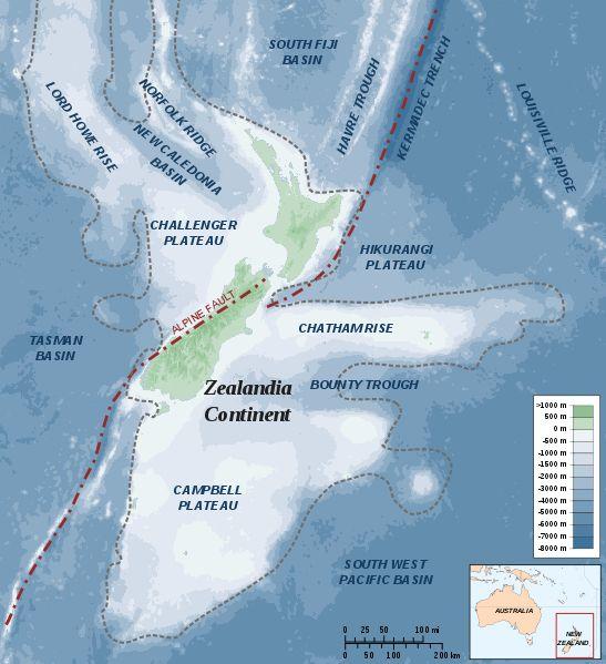 【NZ】太平洋に沈んだ第7の大陸「ジーランディア」を地球深部探査船「ちきゅう」を投入し、解明に挑む!