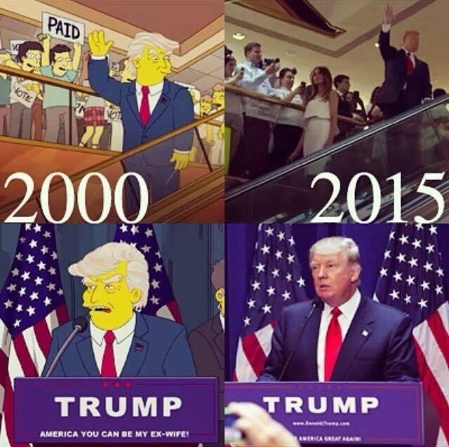 【アメリカ】2000年にアニメ「ザ・シンプソンズ」でもトランプの大統領就任を予言していたと話題に