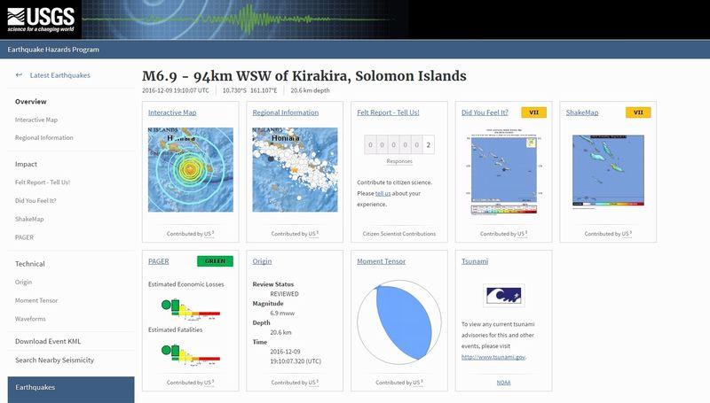 ソロモン諸島で「M6.9」の地震発生…M5クラスの地震がなおも続く