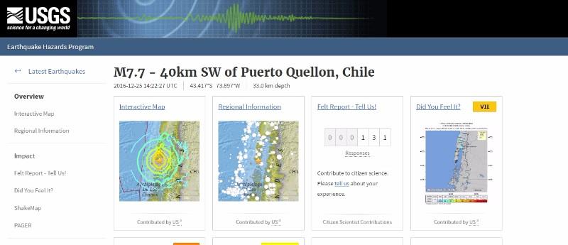 チリ南部で「M7.7」の大地震が発生…チリ沿岸では3メートルの津波のおそれ