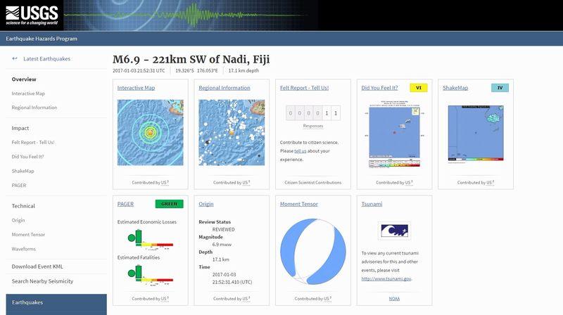 【前兆】フィジー沖でM6.3とM6.9の地震相次ぐ…その後もM5クラスの地震が10回以上続く