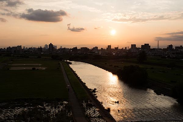 矢田川夕陽