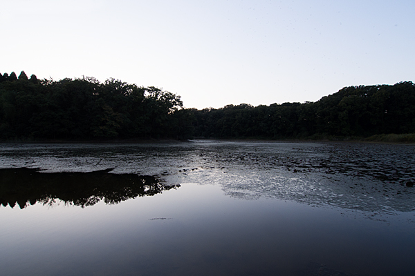 塚ノ杁池夕暮れ