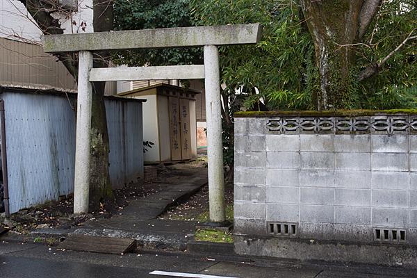 深島神社裏手の鳥居