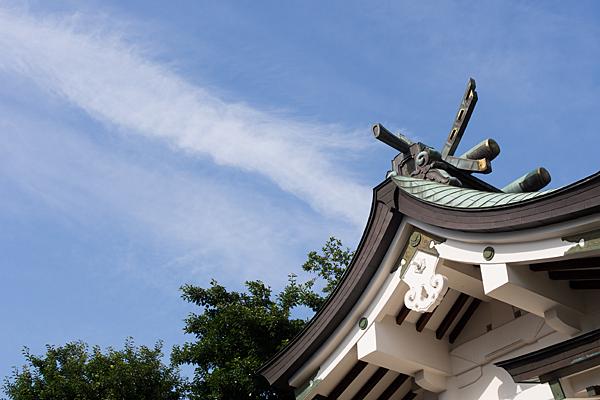 大幸八幡社拝殿の屋根