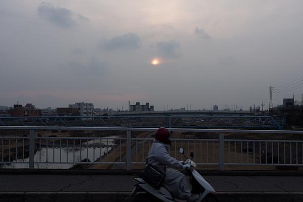 大森橋からの夕陽