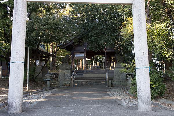 菅田神社鳥居入り口