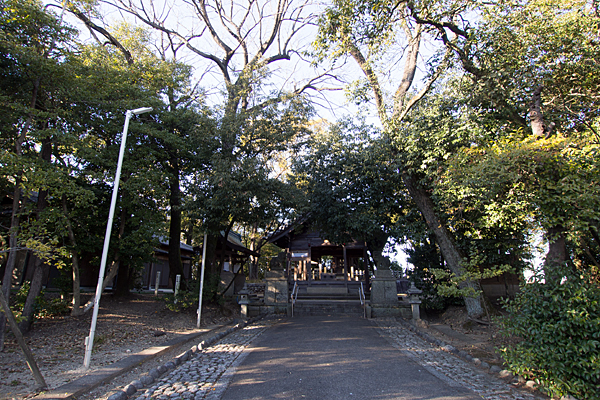 菅田神社参道と境内