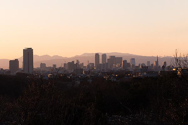 平和公園から見る名古屋駅方面