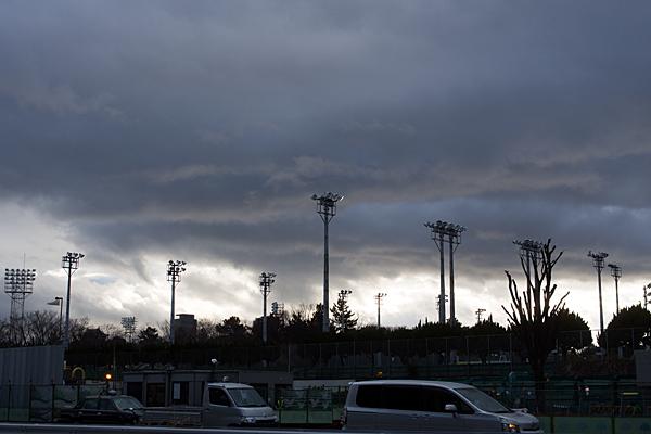 名城公園グラウンドのナイター照明