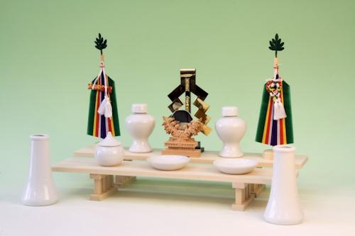 二段式豆八足台の祭り例