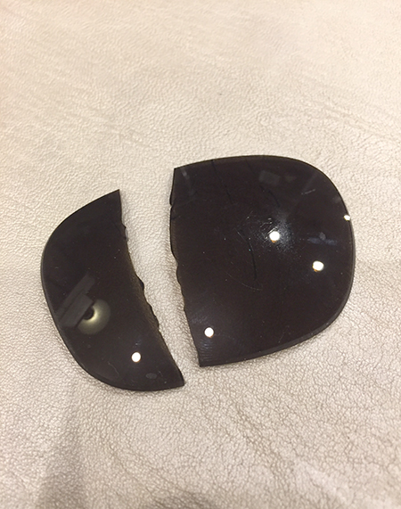 スノボ スキー アウトドア サングラス レンズが割れた 修理 レンズ交換 新潟 長岡 湯沢