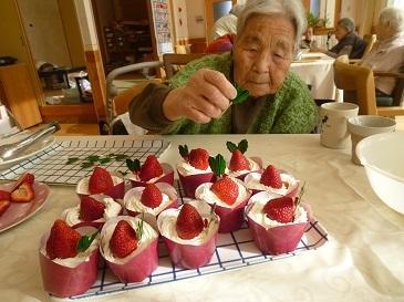 クリスマス会ケーキ作り