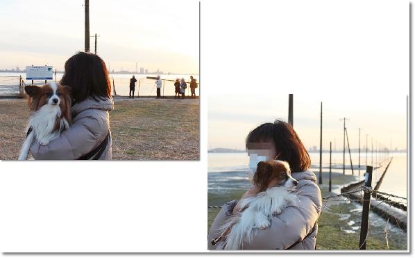 江川海岸で6