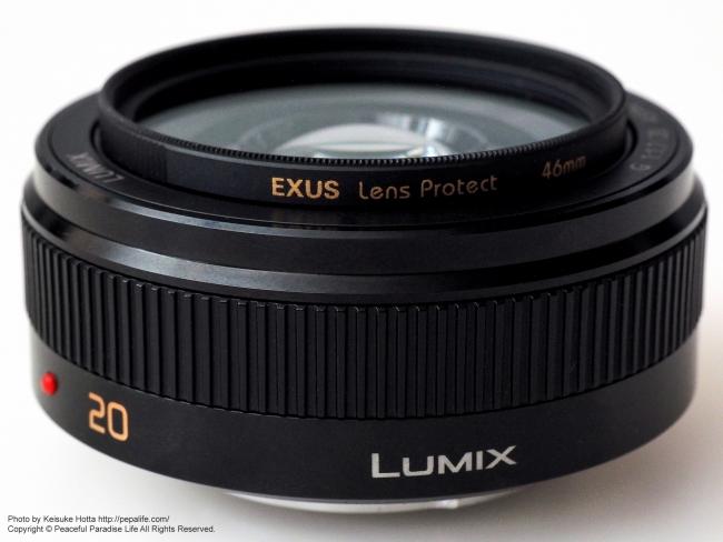 LUMIX G 20mm / F1.7 II ASPH. にマルミ EXUS Lens Protectを装着