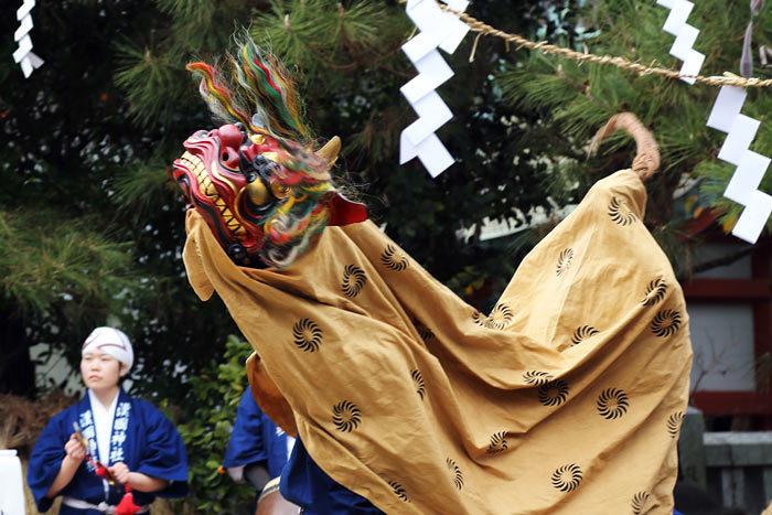 漢国神社 獅子神楽1