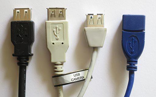USB延長ケーブルメスコネクタ部分