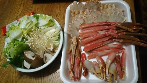 カニ鍋用意