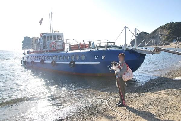 グラスボートと記念撮影