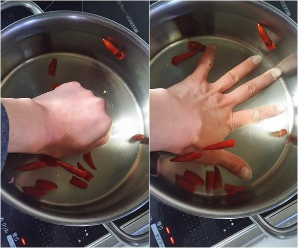 鷹の爪のお湯で