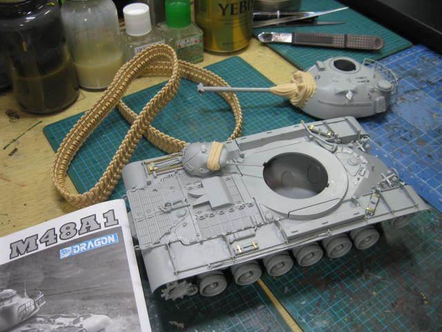 M48A1 塗装の1