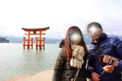 20170108厳島神社鳥居2