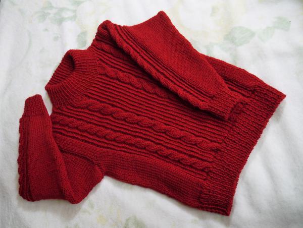赤いセーター完成201611