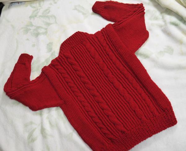 赤いセーター背面201611