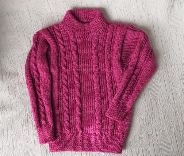 フーシャピンクのセーター完成201612