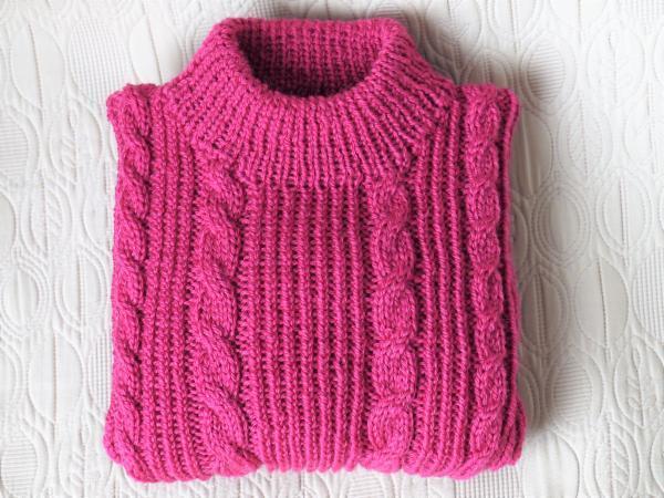 フーシャピンクのセーター保管201612