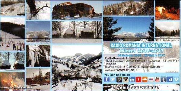 2016年10月5日 中国語放送受信 Radio Romania International(ルーマニア)
