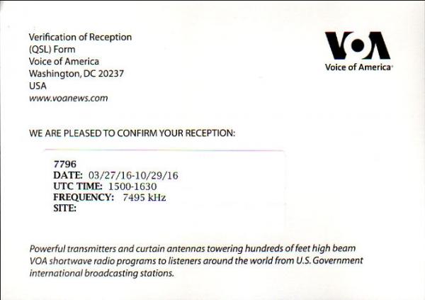 2016年10月4日(JST=日本時間) (UTC=協定世界時間では10月3日) アフガニスタン向けダリ語放送受信 VOA