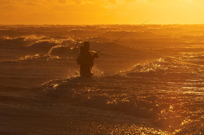 釣り人の朝
