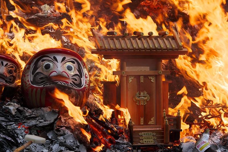 小國神社のどんど焼き 壱