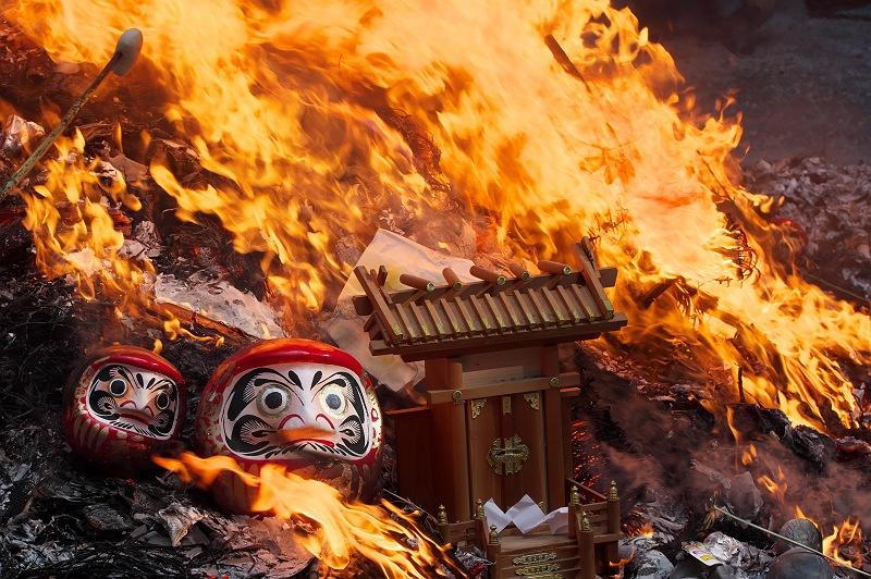 小國神社のどんど焼き 参