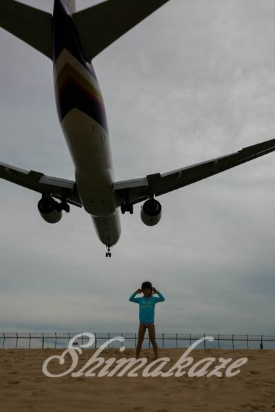 プーケットしまかぜ案内人 ナイヤンビーチ 飛行機