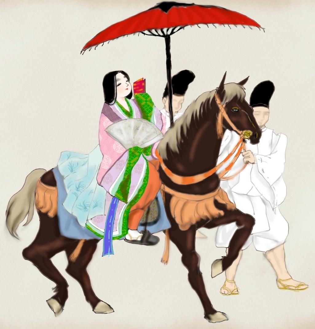 祇園祭の巫女