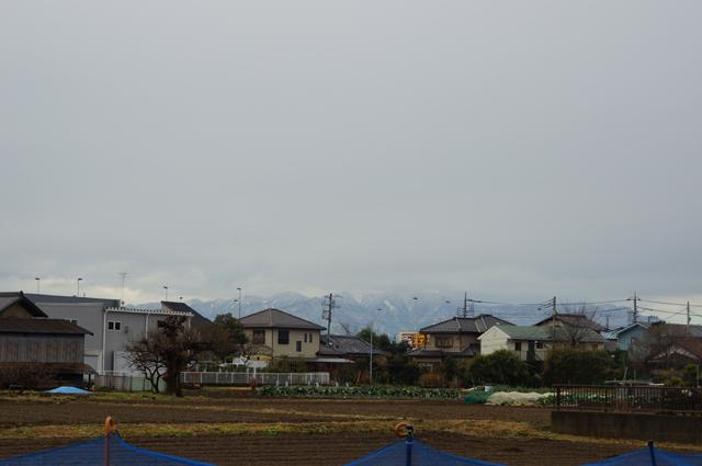 雪国のようになった丹沢連峰